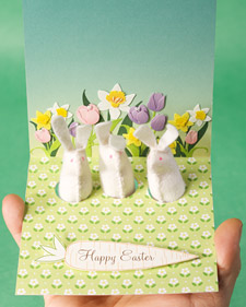 Rabbit Finger Puppet Card
